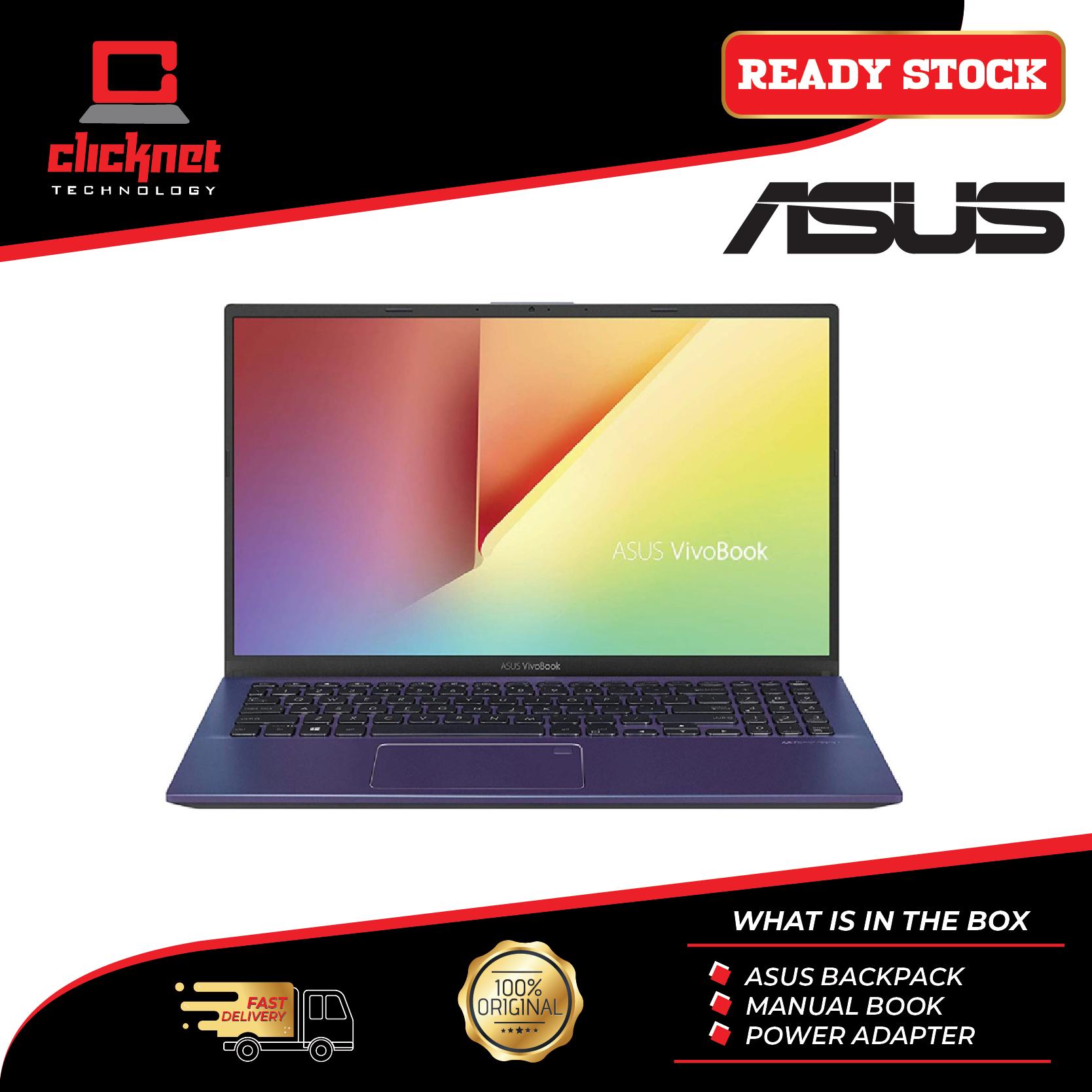 Asus Vivobook A512F-LBQ177T 15.6  FHD Laptop Blue (i5-8265U 4GB 512GB SSD NV MX250 2GB 15.6FHD W10) Malaysia