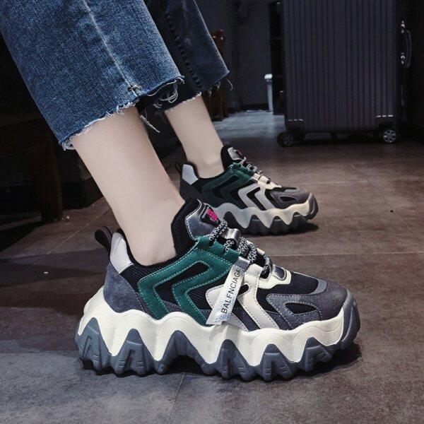 Giày Thể Thao NOAZH Cho Nữ, Giày Thường Ngày Đế Sóng Thoáng Khí Màu Sắc Hài Hòa Mới 2020
