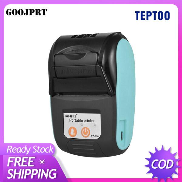 Máy in nhiệt di động GOOJPRT PT-210 máy in hóa đơn 58mm cầm tay cho cửa hàng bán lẻ nhà hàng nhà máy đơn vị vận chuyển - INTL