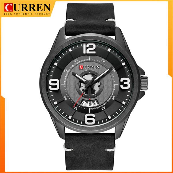 CURREN Men Watch Fashion Simple Big Digital dial Quartz Watches For Men Casual Business Gentlemens Wristwatch 8305 Malaysia