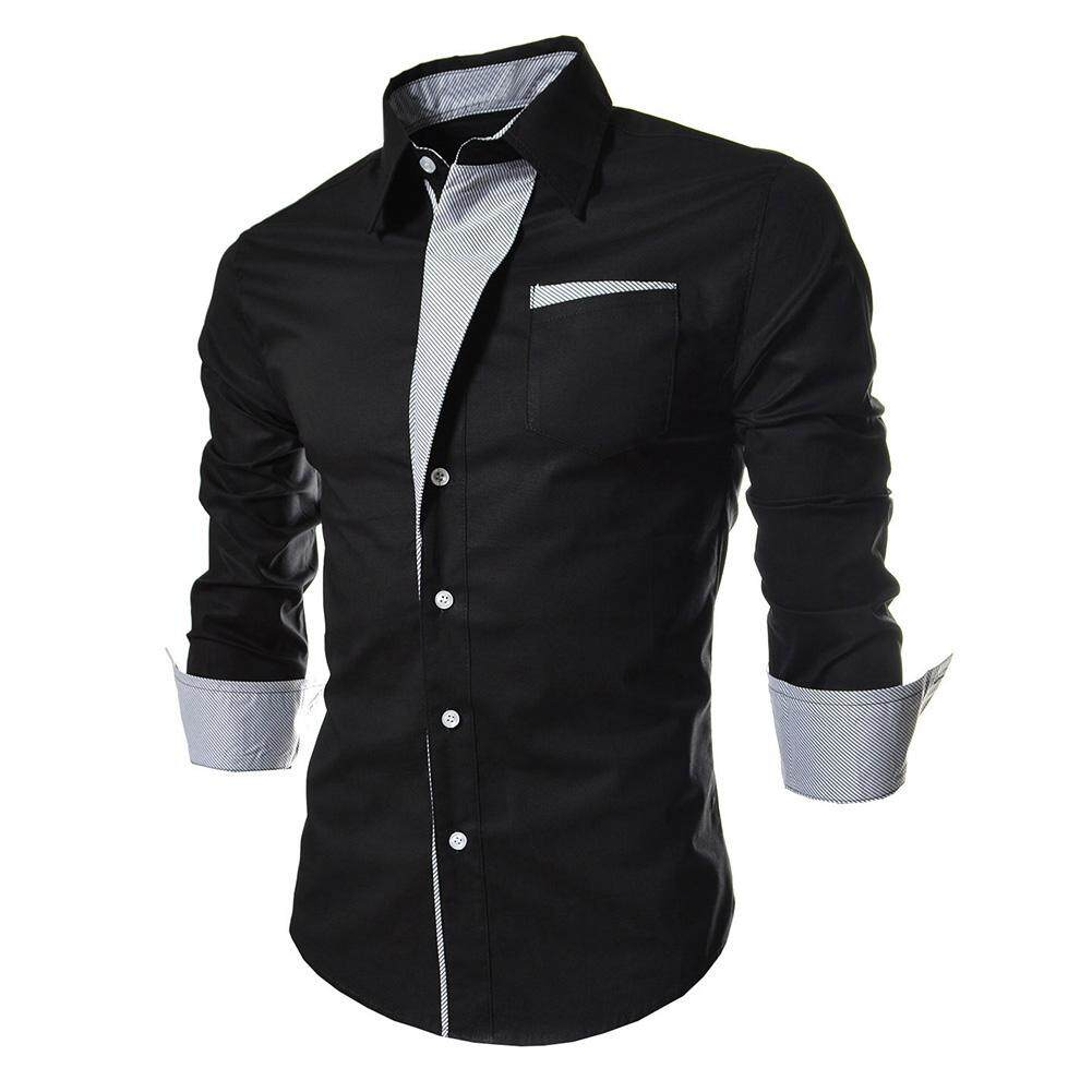 22014acb3 Camisa Masculina Slim Fashion Men Shirt New Brand Casual Long-Sleeved  Chemise Homme Plaid Camisa