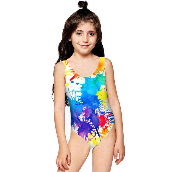 Giá bán ❤Hàng Có Sẵn❤Đồ Bơi Trẻ Em Bé Gái In Hoa Chất Lượng Cao Giá Rẻ Đồ Bơi In 3D Đồ Bơi Một Mảnh Đi Biển Mùa Hè