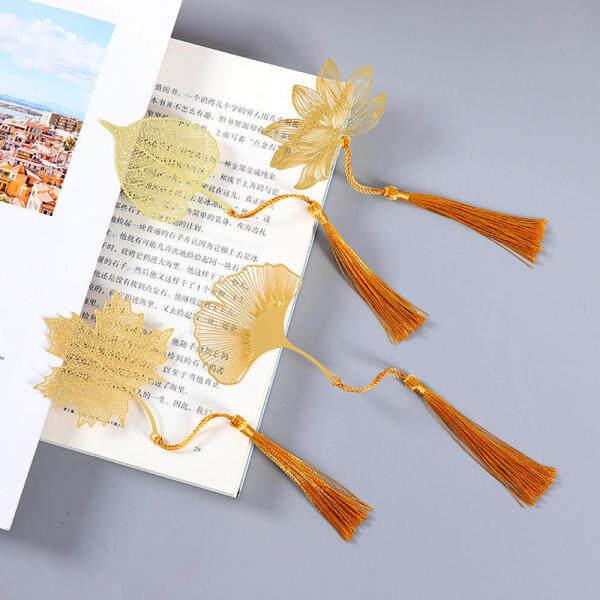 Văn Phòng Phẩm Lưu Ý Apricot Phong Cách Trung Quốc Kim Loại Lá Phong Bookmark