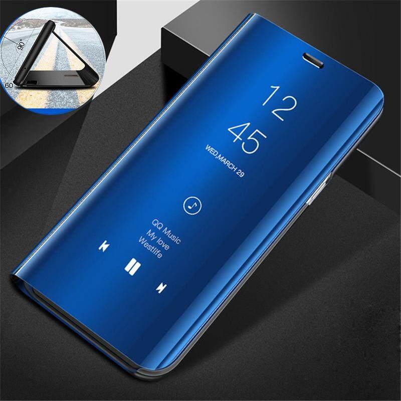 Cermin Pandangan Jelas Case untuk OPPO A71/A 71 Kulit Flip Casing Dudukan Aksesori Ponsel Telepon Case S Cover