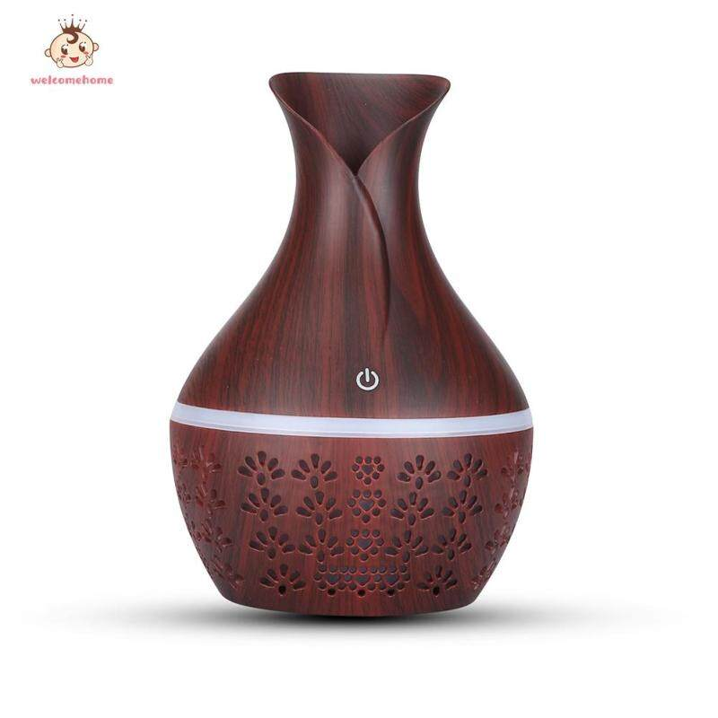 300ml Aromatherapy Humidifier Essential Oil Aroma Diffuser Machine Air Dampener with Night Light Singapore