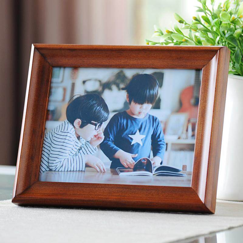 Import Wood Photo Frame Combination Top Grade Office Desk Gift Tabletop Large 6-inch 6-Inch 7/-Inch 8-Inch 10-Inch A4 Certificate Holder