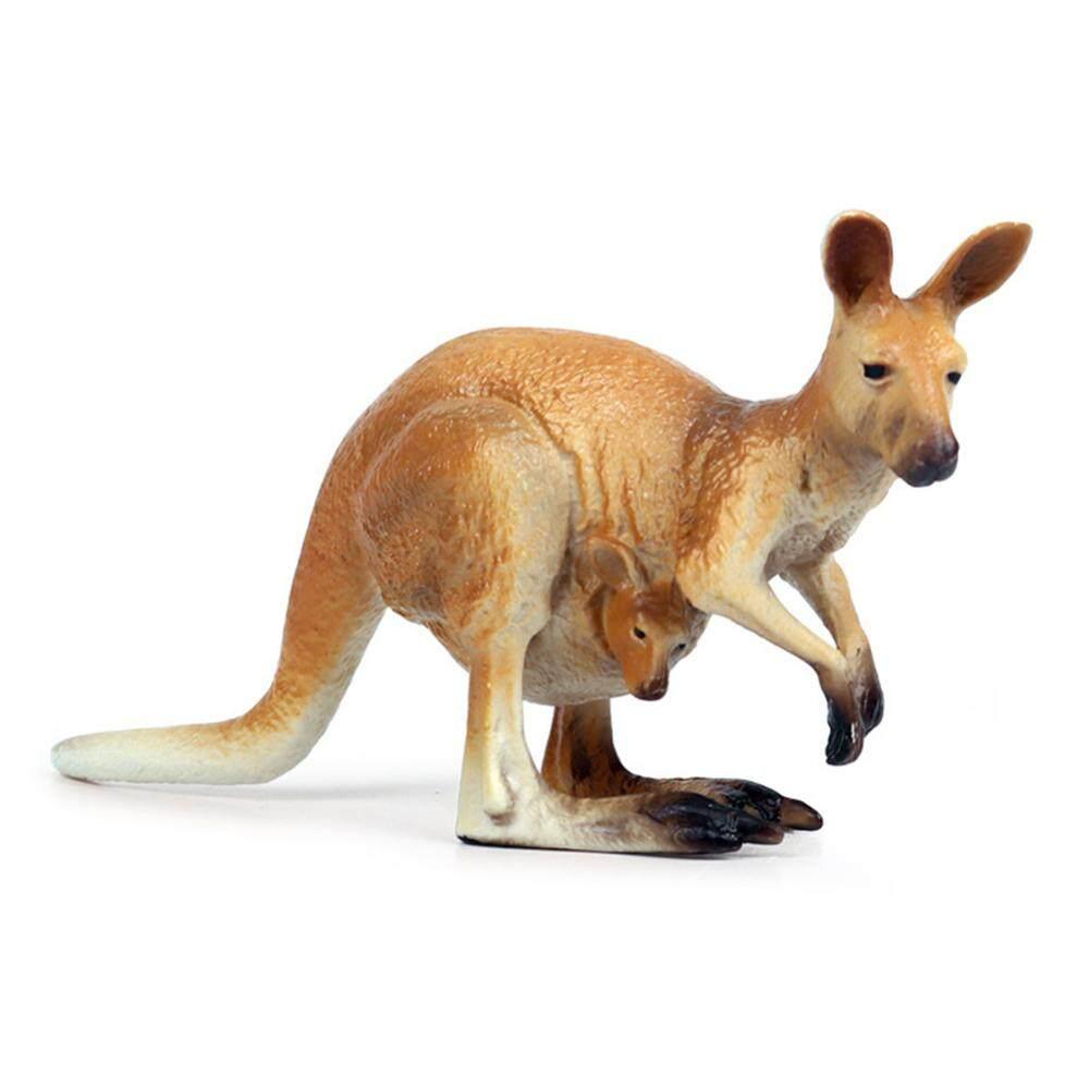 [gxf]Miniature Kangaroo Figurine Home Decor Desktop Prop Ornaments Gift