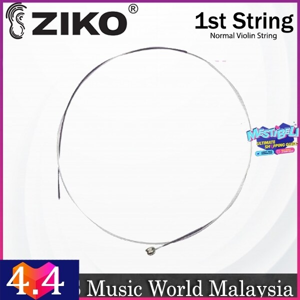 Ziko Normal Violin String 1st Loose String Nickle Wound Extra Light Tone Malaysia