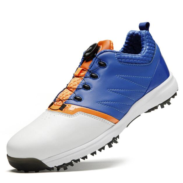 Giày golf nam chuyên nghiệp Giày thể thao tự khóa Giày thể thao nam chống thấm nước giày Golf Nam Kích thước Châu Âu 38/39/40/41/42/43/44/45 giá rẻ