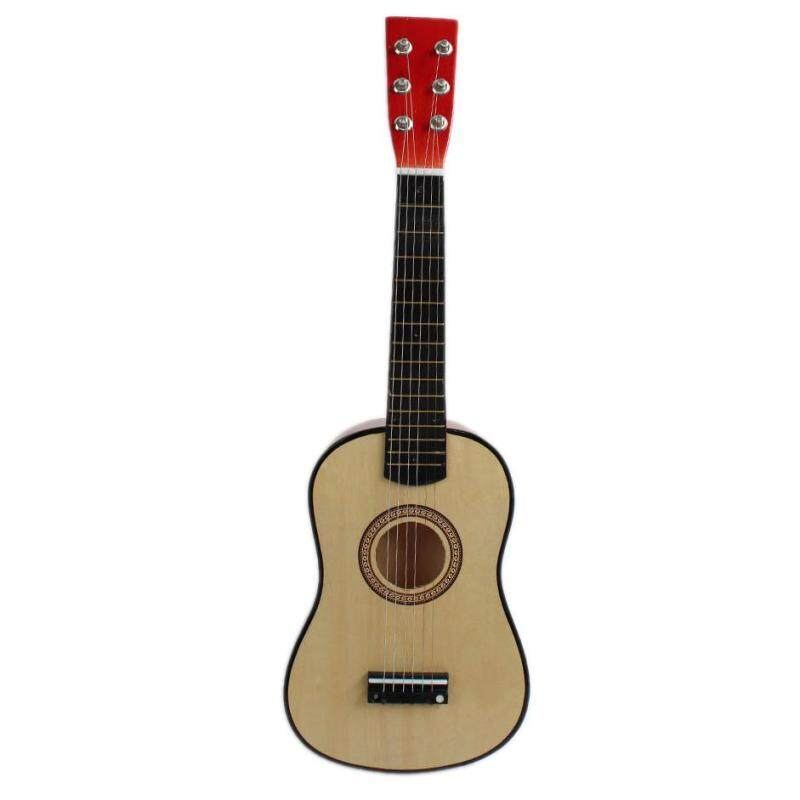 23inch Guitar Mini Guitar Basswood Kids Musical Toy Acoustic Stringed Instrument with Plectrum 1st String Natural Color Malaysia