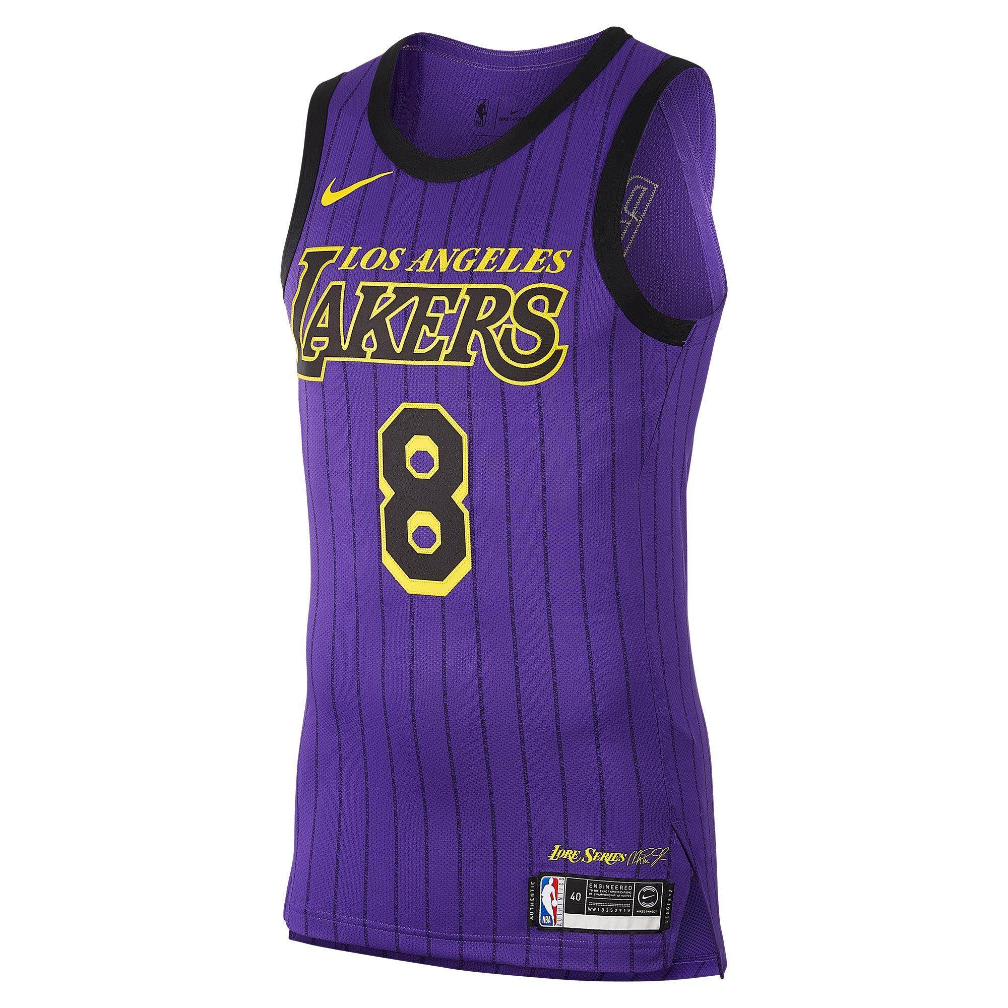 NI - KEOfficial LosA - ngeles Lakers CE AU NBA CONNECTED ผู้ชาย JERSEY AV3696