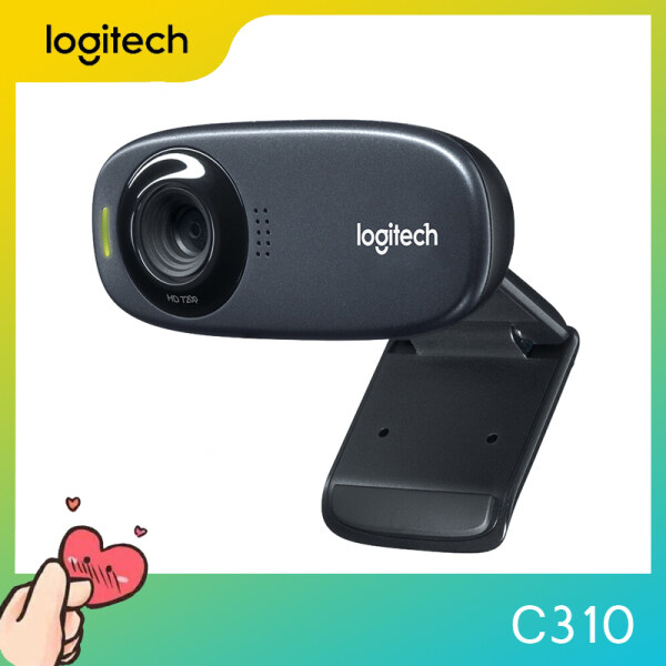 Logitech C310 HD Webcam for Gaming, Webcast, Built-in Microphone, HD 720P, with 5MP Photos, Auto Focus