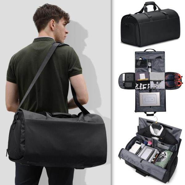 YILIONGDAQI Mens Duffel Bag Foldable Travel Business Backpack Waterproof Gym Shoulder Bag Large Handbag For Men