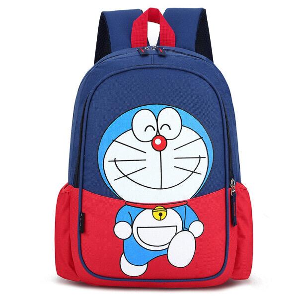 Balo trẻ em Cặp trẻ em hình đoraemon Cặp Sách Hoạt Hình Doraemon, Ba Lô Unisex Nhẹ Không Thấm Nước Dành Cho Trẻ Em Bé Trai Bé Gái Túi Mèo Leng Keng Dễ Thương, Quà Sinh Nhật Cho Trẻ Em