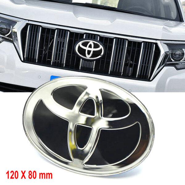 Xe Phía Trước Lưới Tản Nhiệt Biểu Tượng Nhãn Dán Âm Thanh Nổi 3D Cá Nhân Sticker, Huy Hiệu Đề Can Chữ Trang Trí Cốp Xe Sửa Đổi 120X80 Mm Dành Cho Xe Toyota Land Cruiser Prado RAV4 HighLander Camry Yaris Corolla Wish VIOS ALTIS ALPHARD VELLFIRE (Màu Đen)