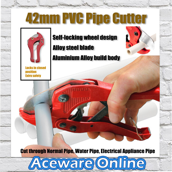 42MM Heavy Duty Automatic Vinyl PVC Pipe Cutter Snips Cutting Quality Assured Automatic Hand Tools Scissor