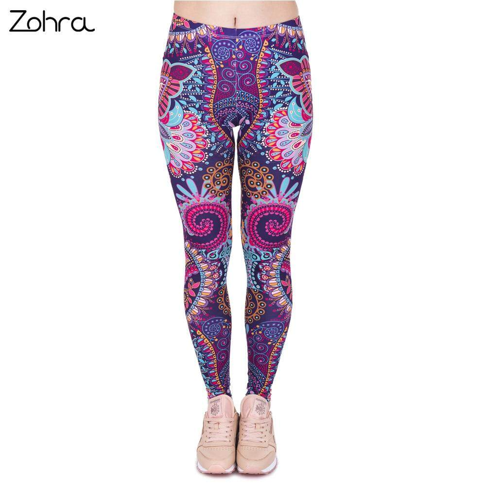 Zohra Fashion Retro Women Legins Mandala Flowers Pink Printing Legging Woman Cozy High Waist Leggings By I Fashion Bag.