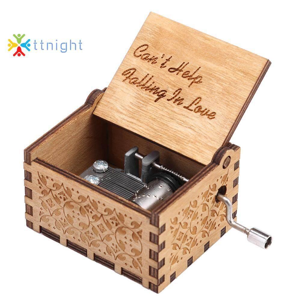 Handmade Wooden Carving Music Box Romantic Theme Birthday Gifts Decoration