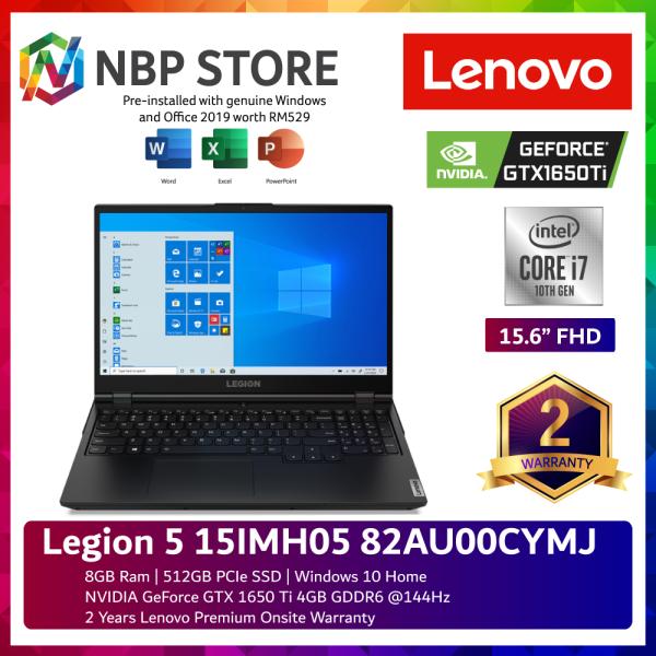 Lenovo Legion 5 15IMH05 82AU00CYMJ 15.6 FHD 144Hz Gaming Laptop ( i7-10750H, 8GB, 512GB SSD, GTX1650Ti 4GB, W10, HS ) Malaysia
