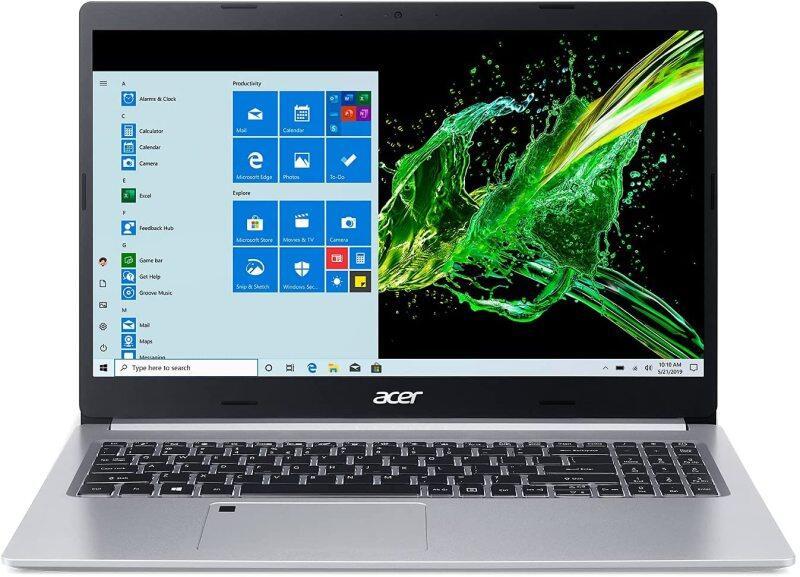 Acer Aspire 5 A515-55-56VK, 15.6 Full HD IPS Display, 10th Gen Intel Core i5-1035G1, 8GB DDR4, 256GB NVMe SSD, Intel Wireless WiFi 6 AX201, Fingerprint Reader, Backlit Keyboard, Windows 10 Home Malaysia