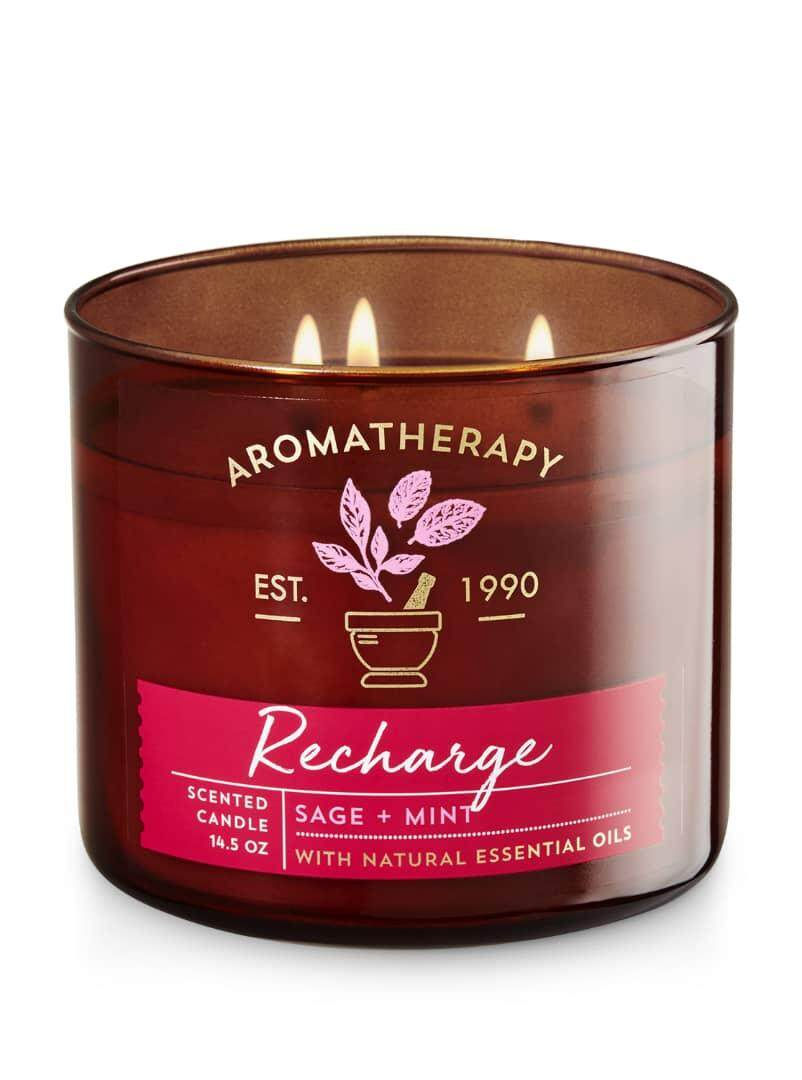 Aromatherapy Bath And Body Works 3 Wick Candle