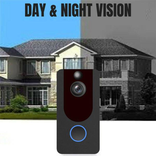 【FREE SHIPPING】Wireless WiFi Video Doorbell SmartPhone Door Ring Intercom Camera Security Bell