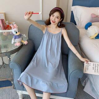 IHOME Cuộc Sống Áo Choàng Tắm Silk Nữ Đồ Ngủ, Hàn Quốc Trên Bán Đèn Rộng Mặc Nhà Thường Ngày Váy Ngủ Ngắn Tay Spa VÁY ĐẦM Ngoại Cỡ Vải Cotton Mềm Màu Trơn Thời Trang Gợi Cảm 2021 Mới thumbnail