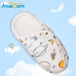 NiceBorn Newborn Baby Swaddle Wrap Soft Cotton Wrap Blanket Sleeping Bag Infant Envelope Swaddles Wrapped Blankets Safety Design Printed Protective Sleeping Bag Sleep Sack Stroller Wrappers Swaddle Wrap Towel New Born Clothing thumbnail