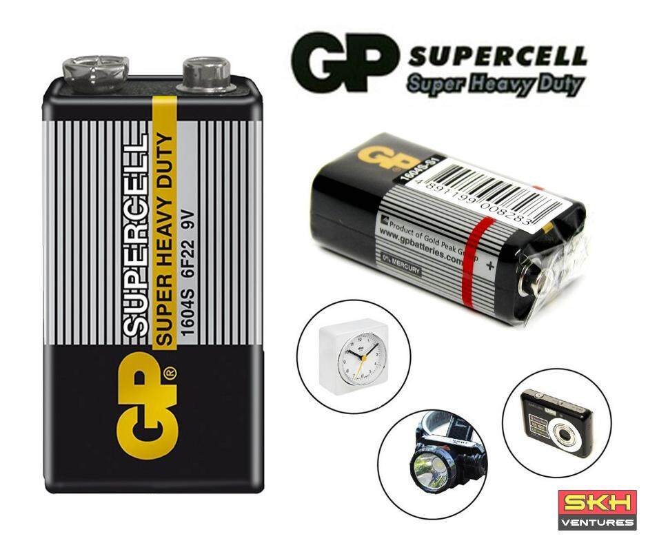 GP Supercell Heavy Duty 9V Battery (For Smart Tag) 1 Pcs