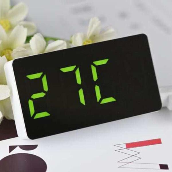 Nơi bán SensoDaily Đồng hồ điện tử có đèn LED, đồng hồ kỹ thuật số mini tráng gương dùng để báo thức có thể mang theo đi du lịch - INTL