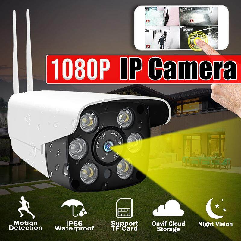【Free Shipping】HD 1080P WiFi Security IP Camera CCTV IP66 Waterproof 3.6mm Lens Cloud Storage Service / TF (maximum 64G) For Outdoor Indoor