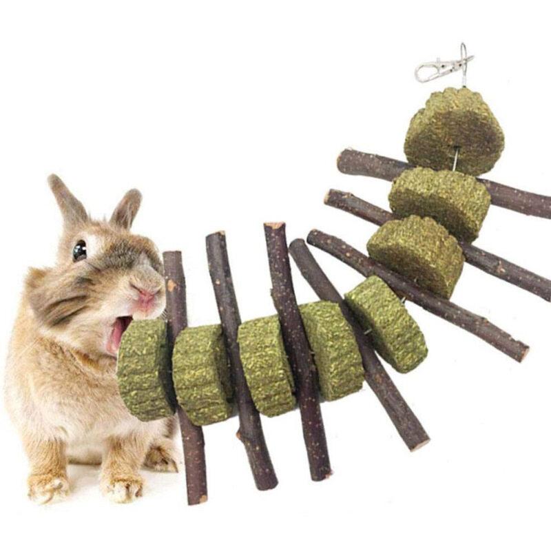 8 Cái/bộ Đồng Cỏ Molar-Xiên Bánh Cho Thỏ Hamster Và Chuột Lang