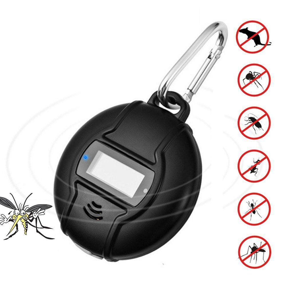 Outflety Solar Portable Ultrasonic Pest Repeller Solar Or Micro Usb Charged Outdoor Mosquito Repellent With Usb Data Cable For Cockroach, Spider, Ant, Mosquito, Mouse, Bed Bugs And Fleas By Outflety.