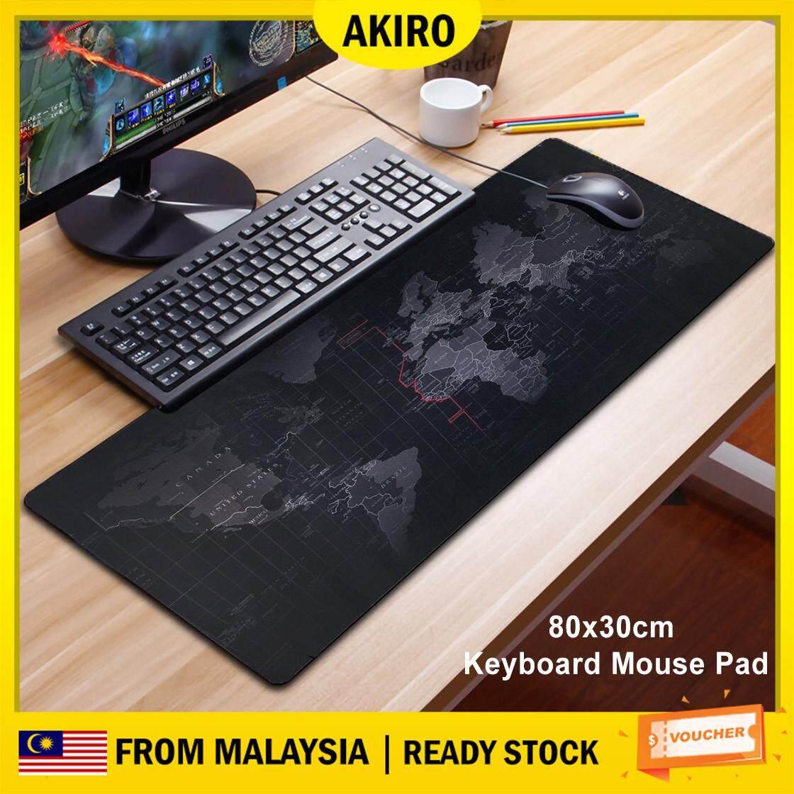 AKIRO 80cm Extra Large Non-Slip Rubber Base Gaming World Map Desktop Laptop Consoles Keyboard Mouse Pad Mousepad Dota LOL CS GO Malaysia