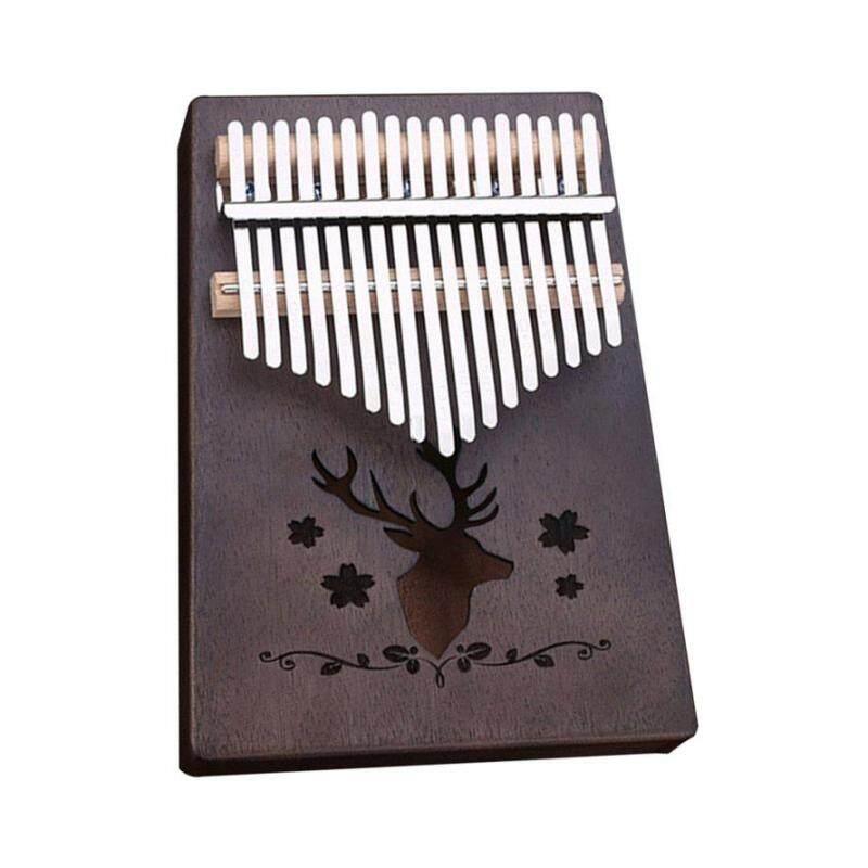 OSMAN 17 Phím Kalimba Veneer Gỗ Gụ Ngón Tay Cái Đàn Piano Tự Nhiên Bàn Phím Nhạc Cụ