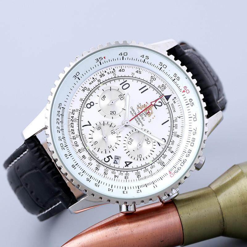 Quartz watch with calendar small eye will move classic
