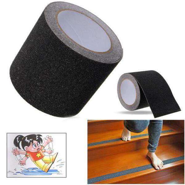 Black / Grey / White / Black and Yellow -- 10CM * 5M Floor Stair Step Anti Slip Tape High Grip Adhesive Sticky Non Slip Safe