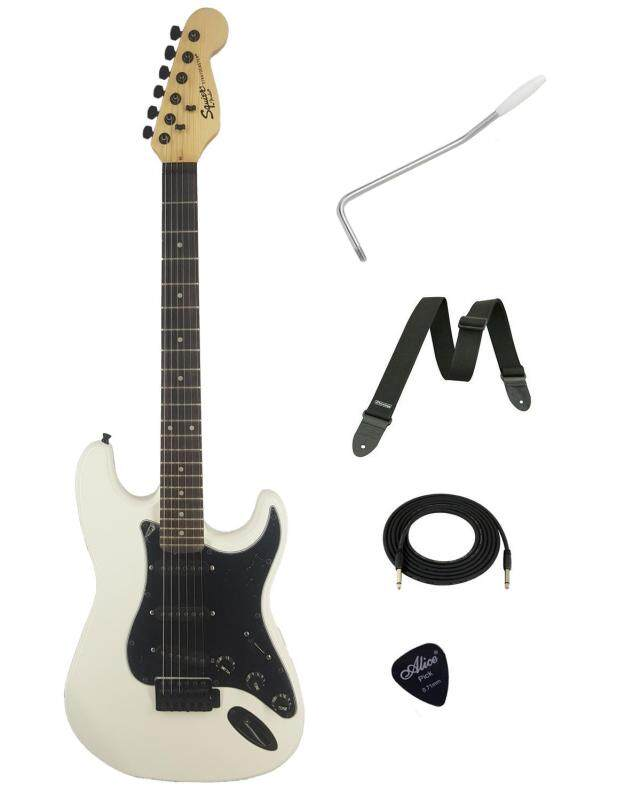Custome Squier Electric Guitar (White) Malaysia