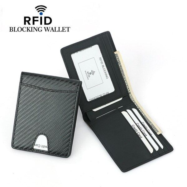 RFID Men Wallet Multifunction Anti-theft Brush Thin Slim Coin Purse Bifold Billfold Multi Slots ID Card Holder Male Wallets