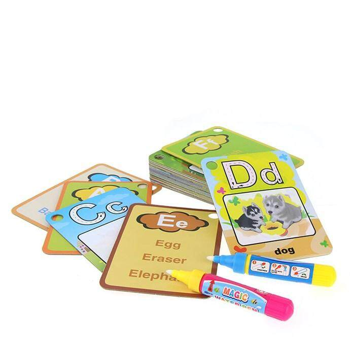 【123 Ring Cards】english Learning Card Magic Water Drawing Book Painting Board For Kid With 2 Pcs Pen By Homexpress Store.