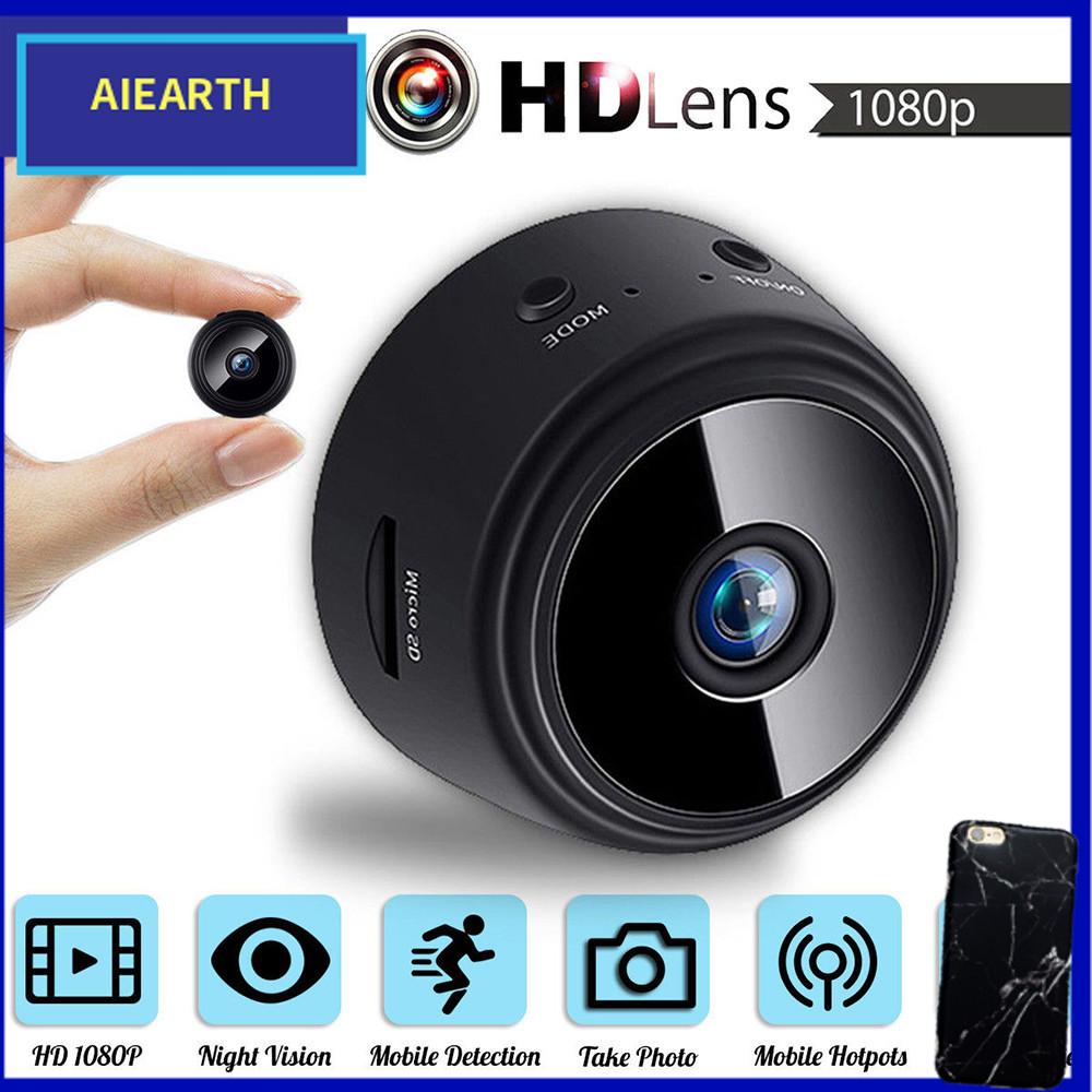 Camera IP A9 an ninh mini hỗ trợ giám sát từ xa kết nối wifi có thể quay hình ban đêm hình ảnh sắc nét độ phân giải 1080P kích cỡ siêu nhỏ phù hợp dùng cho gia đình AIearth - INTL