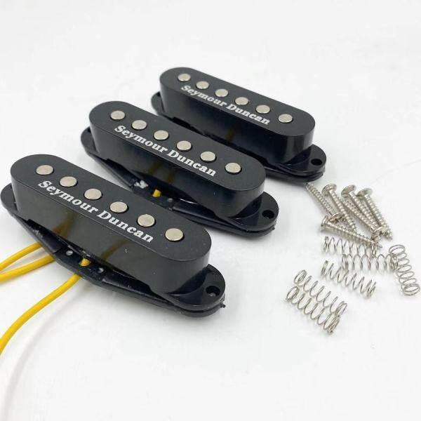 Seymour Duncan SSL-1 RWRP Cầu Đen/Trung/Cổ Alnico Single-Coil Pickup 3 Cái/bộ Black Seymour Duncan Cho Fender ST StyleElectric Guitar