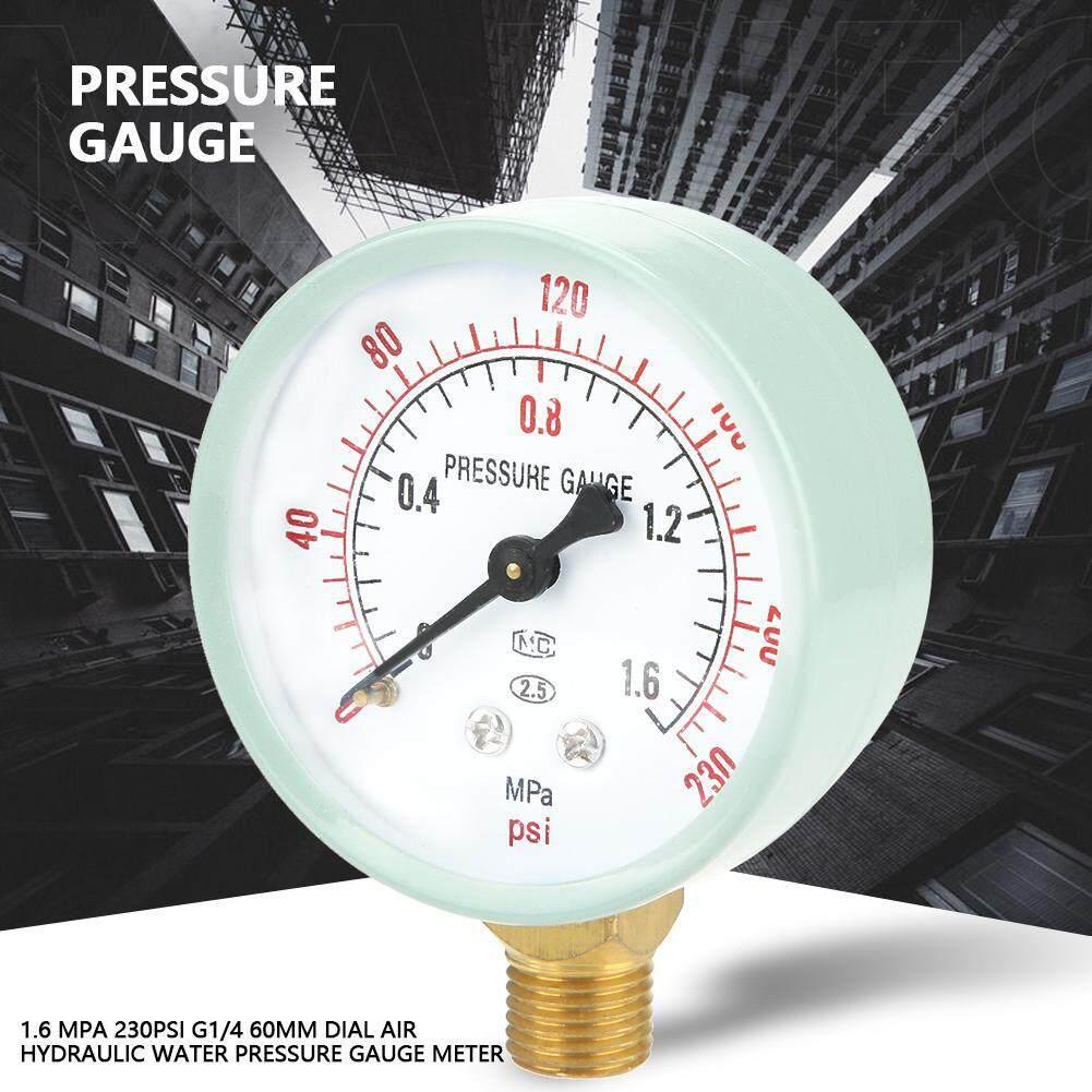 1.6 Mpa 230psi G1/4 60mm Dial Air Hydraulic Water Pressure Gauge Meter