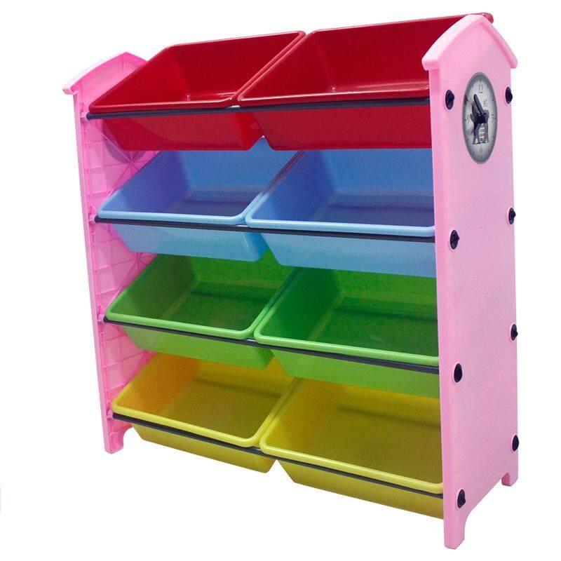RuYiYu - 82 X 29 X 84cm/L W H, Kids Toy Organizer and Storage Bins, 8-Bins in Fun Colors, Toy Storage Rack