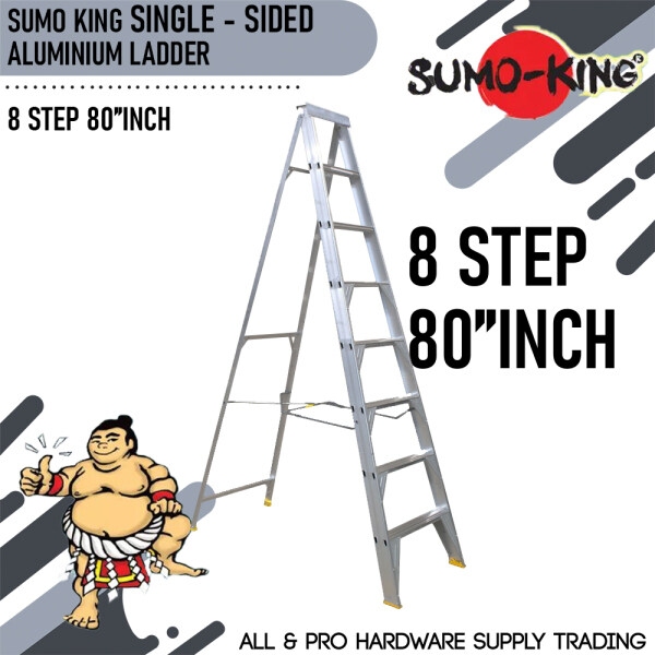 SUMO KING SINGLE SIDED LADDER 8 STEP 80INCH