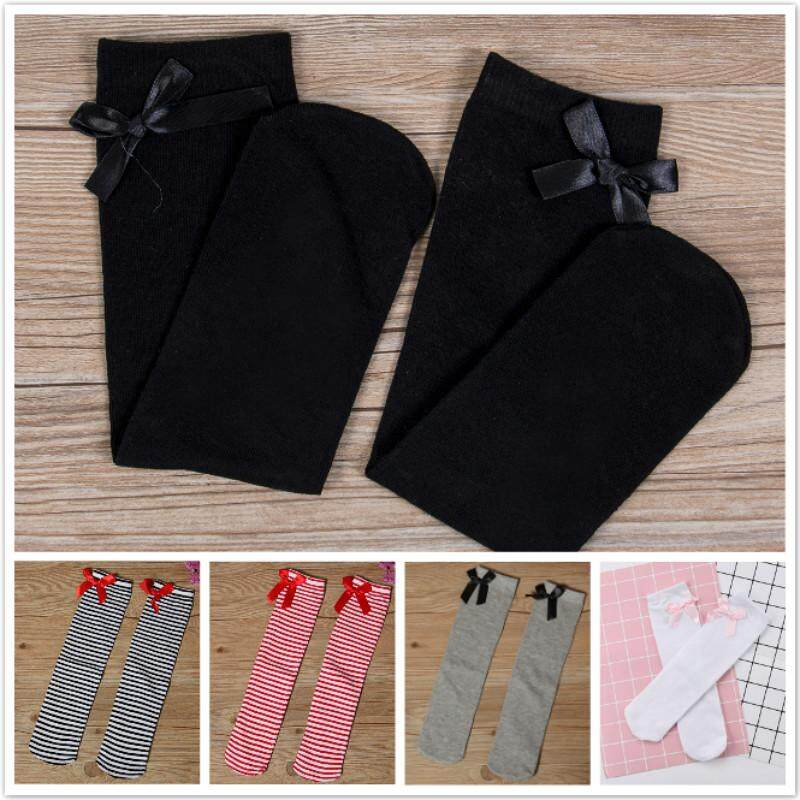 dfa1a9da5 Kids Child Baby Girls Knee High Long Socks Lace Bow Cotton Casual Stockings Hot  Baby Girl Toddler Kids Knee High Length Cotton Socks Bow Lace Frill 1-8Years  ...