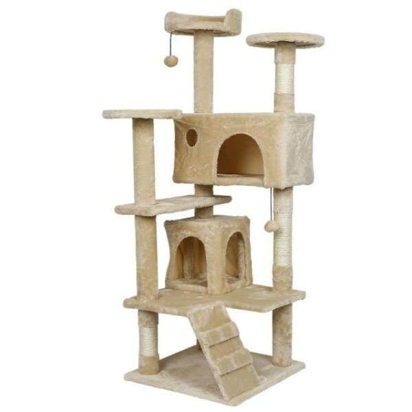 Tháp Cây Mèo Cào 3 Lớp Nhà Chung Cư, Đồ Chơi Trụ Cào Cho Mèo Con Đồ Dùng Cho Mèo Đồ Nội Thất Cào HWC RMYYX