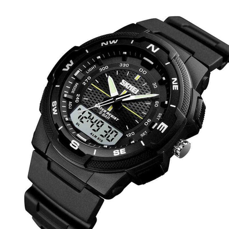 SKMEI Mens Sports Watch Led Digital 50M Waterproof Casual Dual Time Display Watch 1454 Malaysia