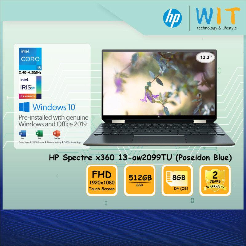 HP 2-in- Laptop Spectre x360 13-aw2099TU(Poseidon Blue)/Intel Core i5-1135G7 2.40~4.20Ghz/8GB D4(OB)/512GB SSD/13.3 FHD TouchScreen/Intel Iris Xe Malaysia