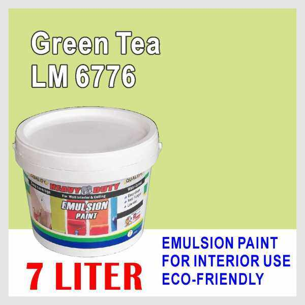GREEN TEA LM6776 ( 7L ) Heavy Duty EMULSION PAINT Cat Interior / Ceiling Paint / WALL FINISH / oem LSC mielite